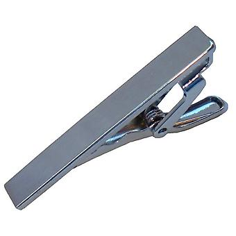 Bassin and Brown Plain Tie Bar - Silver