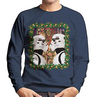 Oprindelige Stormtrooper mistelten jul mænds Sweatshirt