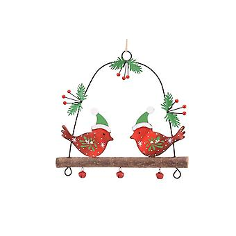 Robins On A Branch Christmas Decorations