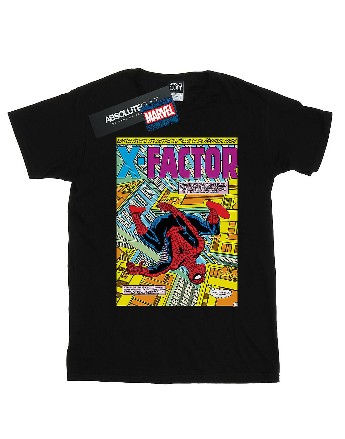 Marvel Women's Spider-Man X Factor Cover Boyfriend Fit T-Shirt