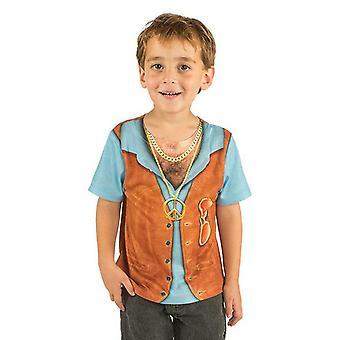 Traje de niño de camiseta hippie chico hippie camisa niño de traje de Hippiejunge a los niños