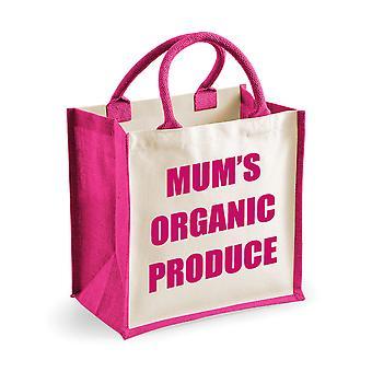 Mittlere Jute Tasche Mama Bio-Produkte