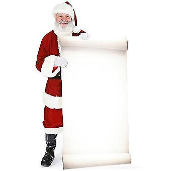 Kerstman met groot bord (Kerstmis) - Lifesize karton gestanst / Standee