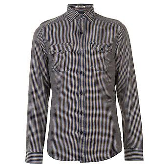 ONeill Mens Flannel Shirt Long Sleeve Casual Cotton Chest Pocket Checked Fold