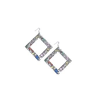 Lovemystyle Oversized Multicoloured Square Earrings
