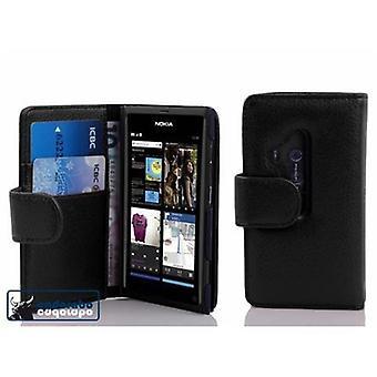 Cadorabo Hülle für Nokia Lumia 800 Case Cover - Handyhülle aus strukturiertem Kunstleder mit Standfunktion und Kartenfach – Case Cover Schutzhülle Etui Tasche Book Klapp Style