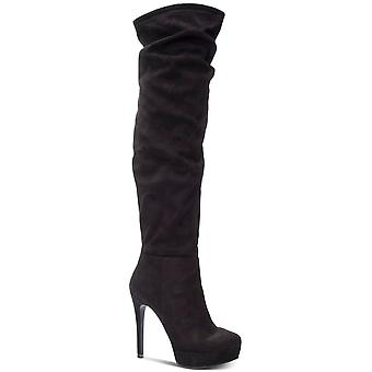 Chinese Laundry Womens Lorie Almond Toe Over Knee Fashion Boots