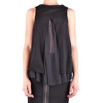 Dondup Ezbc051086 Women's Black Silk Top