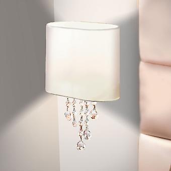 Sökarljus Nina singel Arm krom vägg ljus med vit nyans