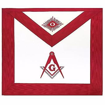 Masonic Blue Lodge Master Mason Apron Red