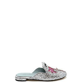 Chiara Ferragni Ezbc174007 Femmes-apos;s Silver Glitter Slippers