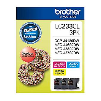 Brother LC233 pacote de cores CMY