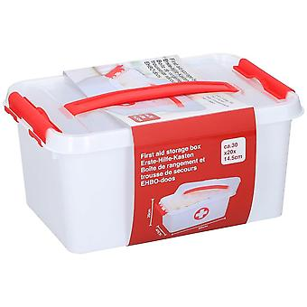 First Aid Storage Box good qualiity Red and White 30x30x14.5cm