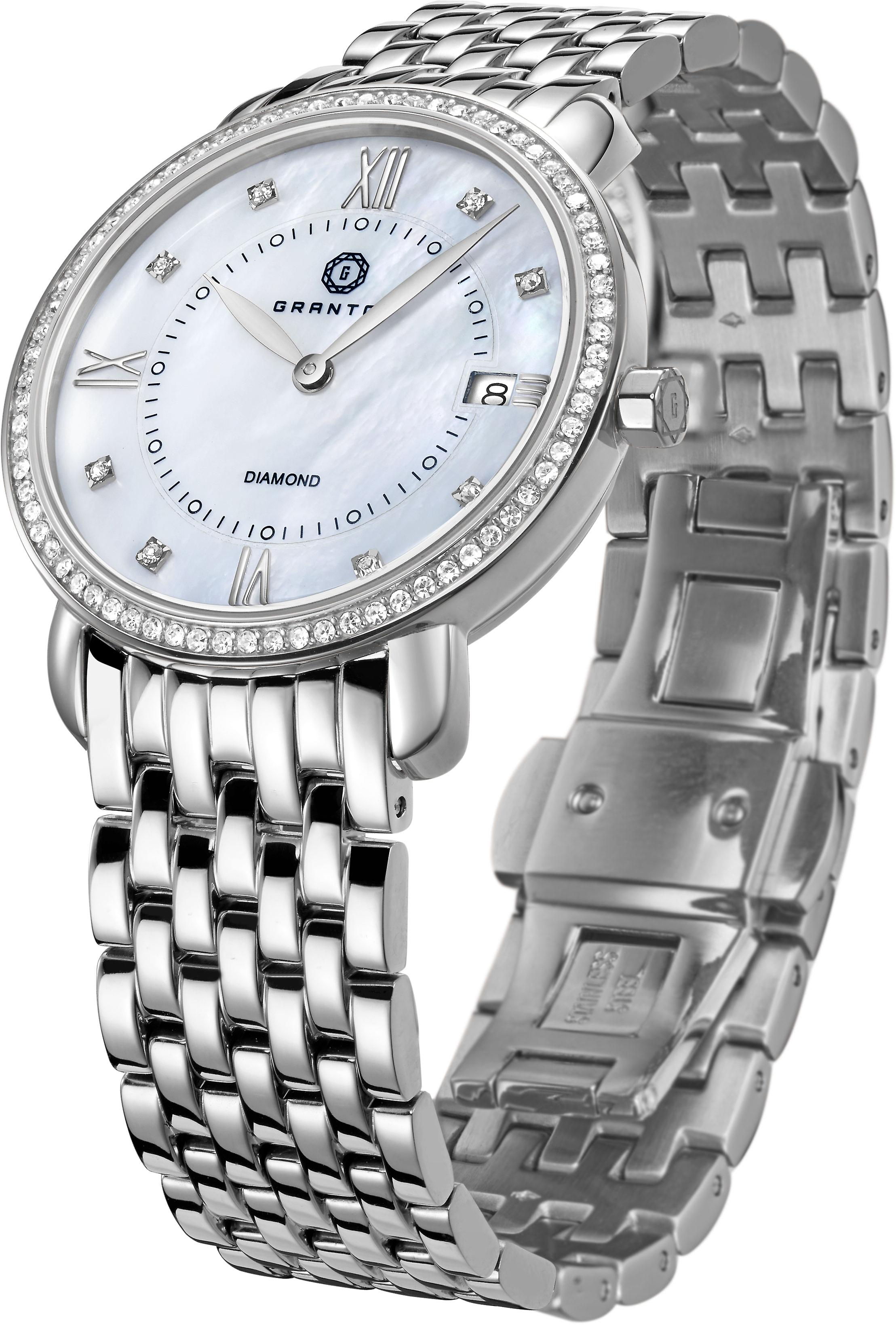 GRANTON - MARQUISE - Women's Watch - White. Silver