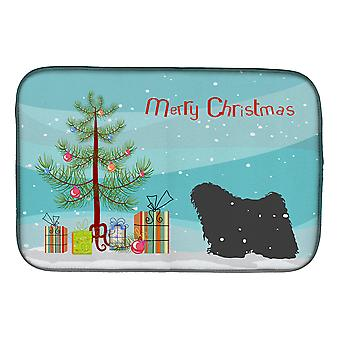 Carolines trésors BB2981DDM Puli Merry Christmas Tree plat Mat de séchage