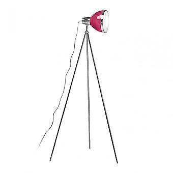 Premier Home Floor Lamp, Chrome, Pink