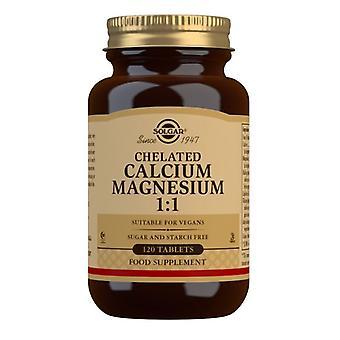Solgar chelated kalsium/magnesium 1:1 tabletter 120 (504)