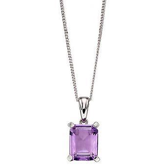 Elements Gold Rectangle Pendant - Purple/Silver