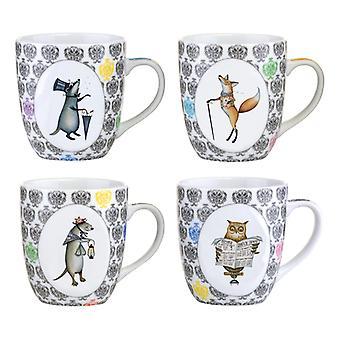 BIA Funimal Mugs, Set of 4