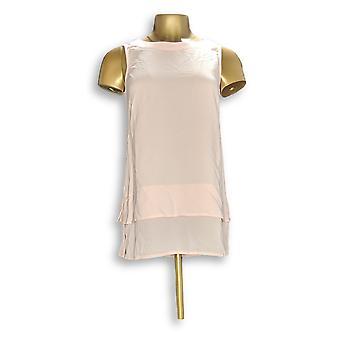 Linea por Louis Dell ' Olio mulheres ' s Top XXS gaze crepe tanque rosa A276293