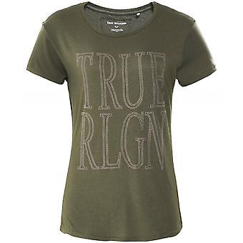 True Religion Screen Print Rhinestone T-Shirt