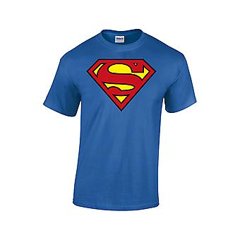 Superman Logo Blue Men T-Shirt Dc Comics