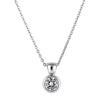 Burgmeister Jewelry - Chain with a woman's pendant with cubic zirconia - silver sterling 925 - cod. JBM1009-321