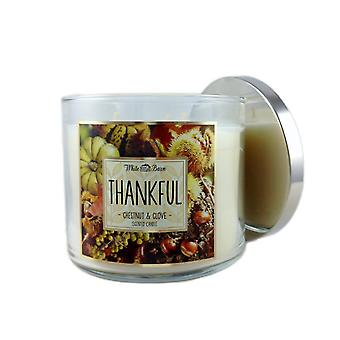 Bath & Body Works Thankful Chestnut & Clove Scented Candle 14.5 oz / 411 g