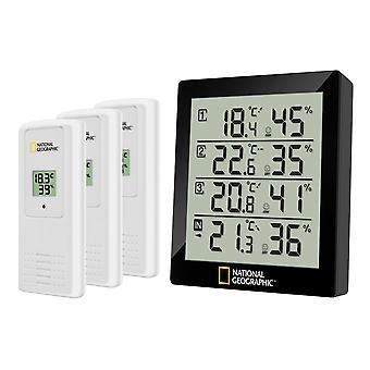 NATIONAL GEOGRAPHIC thermo-hygromètre numérique pour 4 gammes de mesure - noir