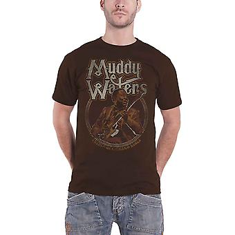 Muddy Waters T Shirt Father Of Chicago Blues new Official Mens Brown