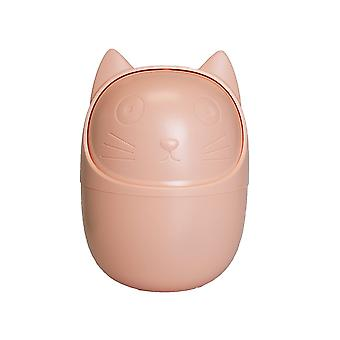 Container for desk, cat-pink