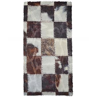 Ahujasons Patchwork Print Wool Blend Szalik