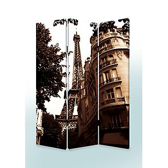"1"" x 48"" x 72"" Multi Color Wood Canvas Paris  Screen"