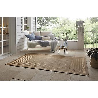 Flat Fabric In& Alfombra al aire libre Limonero Beige Brown en aspecto natural