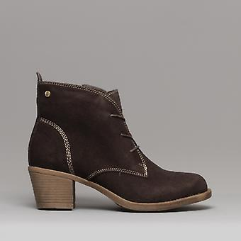Hush Puppies Moscow Ladies Suede Ankle Boots Dark Brown