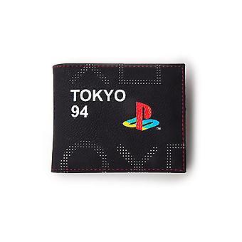 Sony Playstation Japan Tokyo 94 Bi-fold Wallet Male Black/Red (MW752363SNY)
