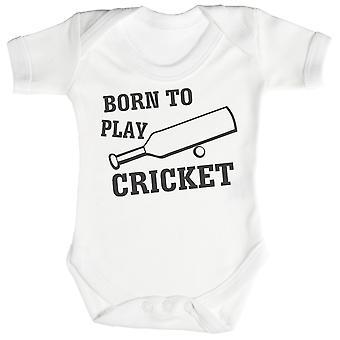Born To Play Cricket Baby Bodysuit / Babygrow