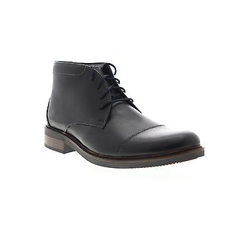 Bostonian Maxton Mid  Mens Black Leather Lace Up Casual Dress Boots