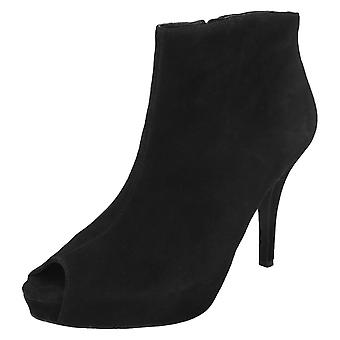 Ladies Rockport Peep Toe Heeled Ankle Boots K59059