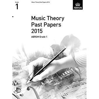 Music Theory Past Papers 2015 ABRSM Grade 1