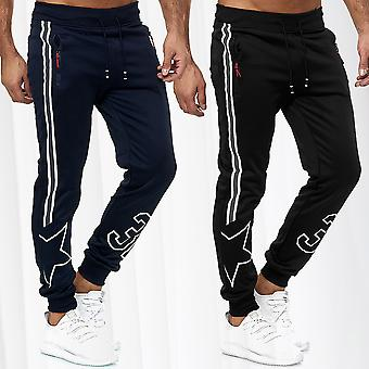 Men's Trackpants Jogging Trousers Long Fitness Sports Pants Stripes Star Print