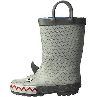 carter's Boys' Marco Rubber Rainboot Rain Boot, Grey,