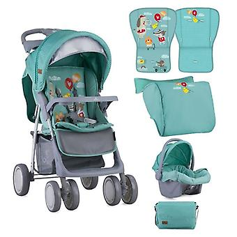 Lorelli stroller Buggy Foxy, car seat, changing bag, foot cover in set