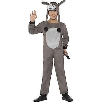 Deluxe Cosy Donkey Costume, Children's Animal Fancy Dress, Small Age 4-6
