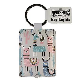 History & Heraldry Keyring - Llamas Key Light