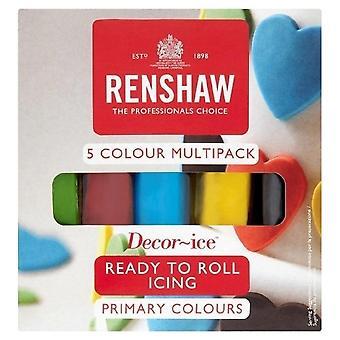 Renshaw primaire kleuren multi pack klaar om te rollen ijsvorming Sugarpaste 5 X 100g