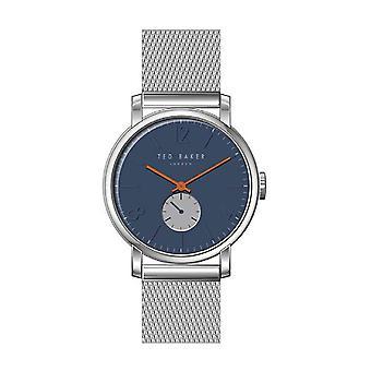 Ted Baker Oliver Quarz blau Zifferblatt Silber Mesh Edelstahl Armband MensWatch TE15063006