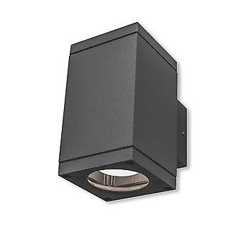 Lámpara de pared UpDown Patoro S 2x35 W GU10 IP54 gris oscuro H: 17 cm 10808