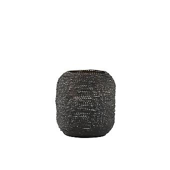 Light & Living Tealight 12.5x13.5cm - Buraca Matted Black / Gold