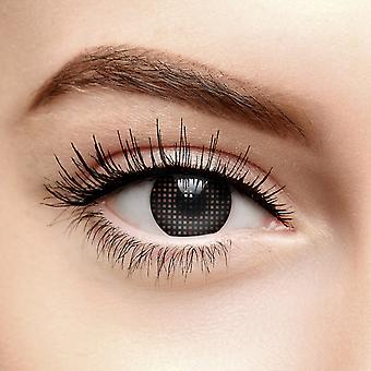 svart mesh farget kontaktlinser (30 dag)